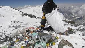 Mt. Everest; clean up the mess2