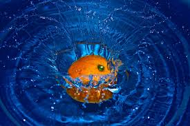orange, float,water