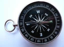 compass, needle, earth, magnetic field, north