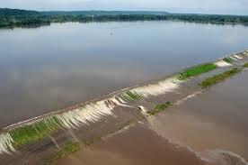 levee,river system, ocean