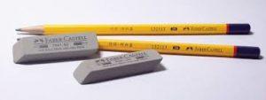 pencil, eraser, graphite, rubber
