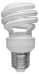 CFL, compact fluorescent lamp, incandiscense