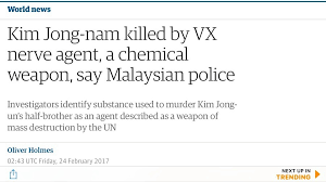 VX, C11H26NO2PS, lethal, nerve agent, chemical warfare, muscles, Skin contact, Weapon of Mass Destruction, toxin, Ranajit Ghosh, V-series, organic chemical, neurotransmitter, uncontaminated, Saddam Hussein, Iraq, Kurds, North Korean, Kim Jong-Nam, leader, half-brother, Kim Jong-un, Malaysia, deadly chemical, sarin